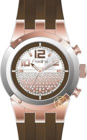 FREELINE Fashion Brown Rubber Strap 8408-3