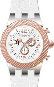 FREELINE Fashion Two Tone White Rubber Strap 8459-1