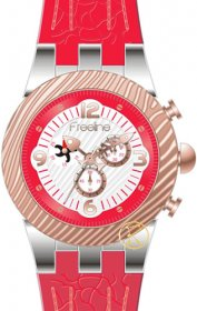 FREELINE Fashion Two Tone Red Rubber Strap 8459-2