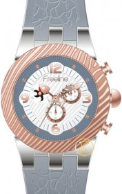 FREELINE Fashion Two Tone Grey Rubber Strap 8459-3