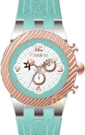 FREELINE Fashion Two Tone Turquoise Rubber Strap 8459-4