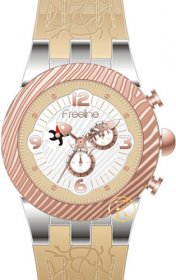 FREELINE Fashion Two Tone Beige Rubber Strap 8459-5