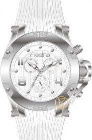 FREELINE Fashion White Rubber Strap 8498-1