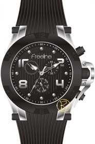 FREELINE Fashion Black Rubber Strap 8498-2