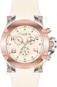 FREELINE Fashion Two Tone Beige Rubber Strap 8498-4