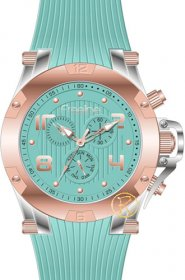 FREELINE Fashion Two Tone Turquoise Rubber Strap 8498-6
