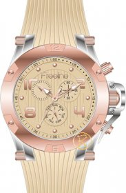 FREELINE Fashion Two Tone Beige Rubber Strap 8498-8