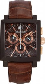 SAINT HONORE Orsay Black Leather Chronograph 89802778CPIR
