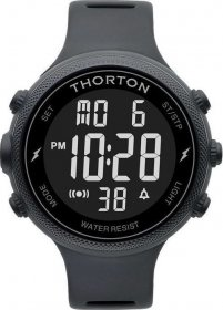 THORTON Sigurd Black Rubber Strap 9101301