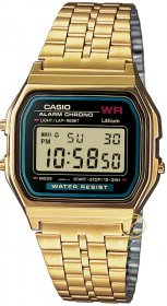 CASIO Collection Gold Stainless Steel A-159WGEA-1EF