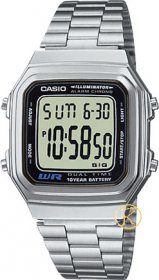 CASIO Collection Stainless Steel Bracelet - A-178WEA-1A