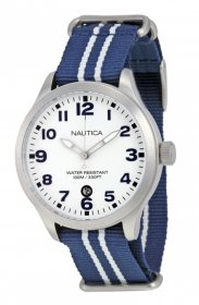 Nautica A09920G with Leather Strap Men's Quartz Watch