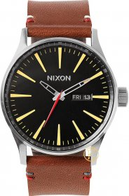 Nixon The Sentry Brown Leather Strap A105.019