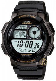 CASIO Sport Black Rubber AE-1000W-1AVEF