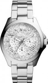 Fossil Cecile Crystal Multifunction Stainless Steel Bracelet AM4601