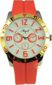 ANGEL New York Red Rubber Strap AR.2004/R