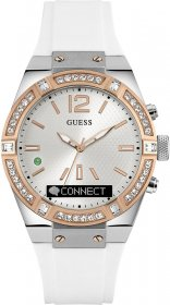 GUESS CONNECT White Rubber Strap C0002M2