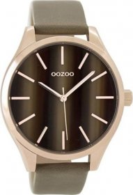 OOZOO Timepieces Brown Leather Strap C9501
