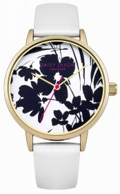 DAISY DIXON Jessica Gold White Leather Strap DD023WG