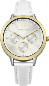 DAISY DIXON Heidi White Leather Strap DD055WSG