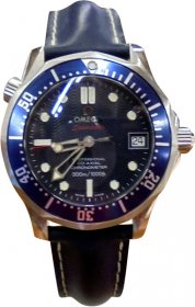 Omega Seamaster Blue Leather Strap 29228091