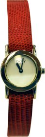 DKNY Red Snake Leather Strap NY3067