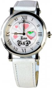 Juicy Couture White Leather Strap Watch 1900349