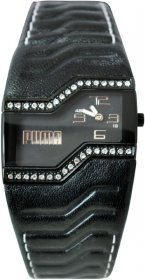 Puma Black Leather Strap PU23275.0218.043
