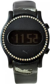 Puma Black Leather Strap PU910042002