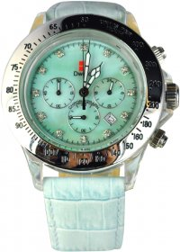 D-Watch Light Green Croco Leather Strap 9605-02