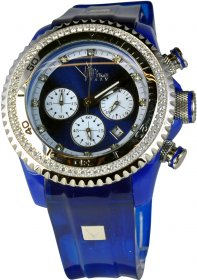 Vip Time Blue Rubber Strap VP8032BL