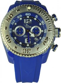 Vip Time Blue Rubber Strap VP5051BL