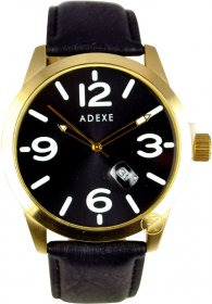 Adexe Black Leather Strap 009866A-3