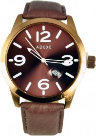 Adexe Brown Leather Strap 009866A-4