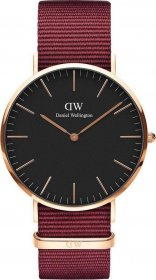 Daniel Wellington Classic Roselyn Rose Gold Red Nato DW00100269