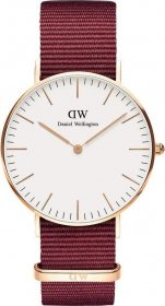 Daniel Wellington Classic Roselyn Rose Gold Red Nato DW00100271
