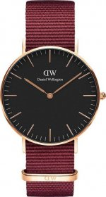 Daniel Wellington Classic Roselyn Rose Gold Red Nato DW00100273