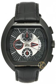 Dolce & Gabbana HIGH SECURITY Watch Black Leather Strap DW0214