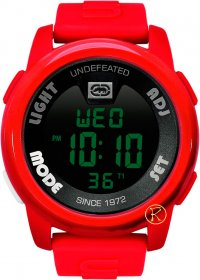 Marc Ecko Mens Watch Red Rubber Strap E07503G4