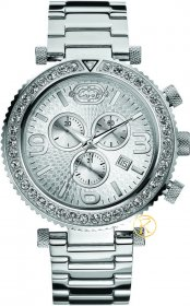 MARC ECKO Silver Stainless Steel Chrono E18568G1