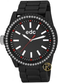 Edc by Esprit Ladies Watch Military Stone Starlet Midnight Black EE100752002