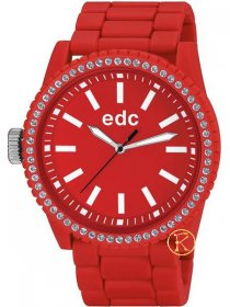 Edc by Esprit Ladies Watch Military Stone Starlet Flashy Red EE100752005