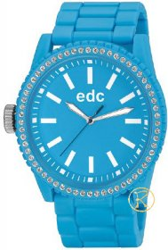 Edc by Esprit Ladies Watch Military Stone Starlet Cool Turquoise EE100752006