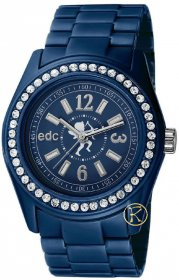 EDC BY ESPRIT DISCO TIME HORIZON BLUE WITH STONES EE900172003