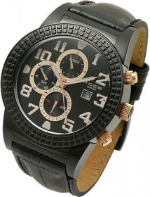 Foce Black Leather Strap F949GB203