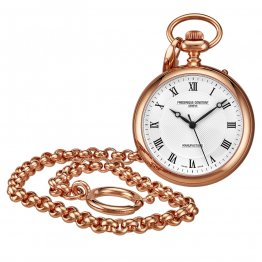 Frederique Constant Manufacture White Dial Rose Gold Pocket Watch FC-700MC6PW4