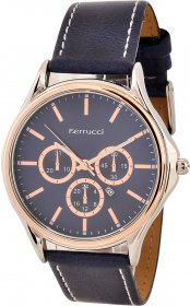 Ferrucci Leather Band Watch With Date FC10221.01