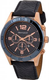 Ferrucci Leather Band Watch With Date FC7064K.02
