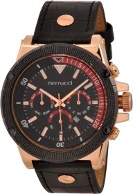 Ferrucci Leather Band Watch With Date FC7112.02