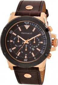 Ferrucci Leather Band Watch With Date FC7112.05